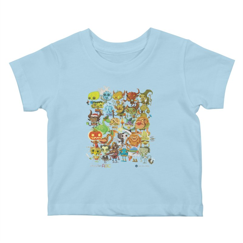 Monster ABC Kids Baby T-Shirt by Hazy Dell Press