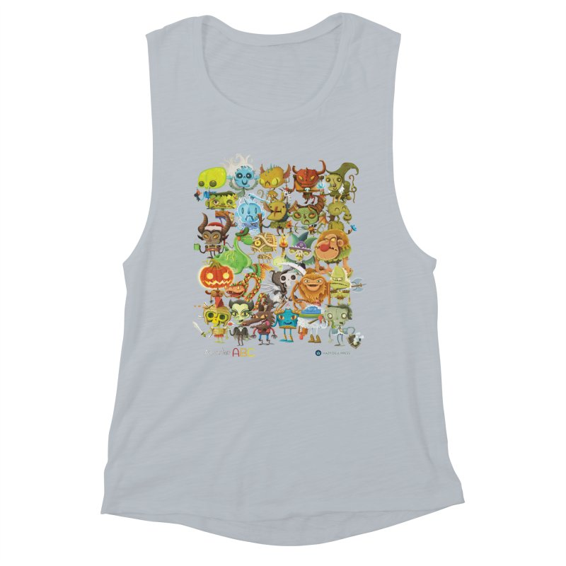 Monster ABC Women's Muscle Tank by Hazy Dell Press