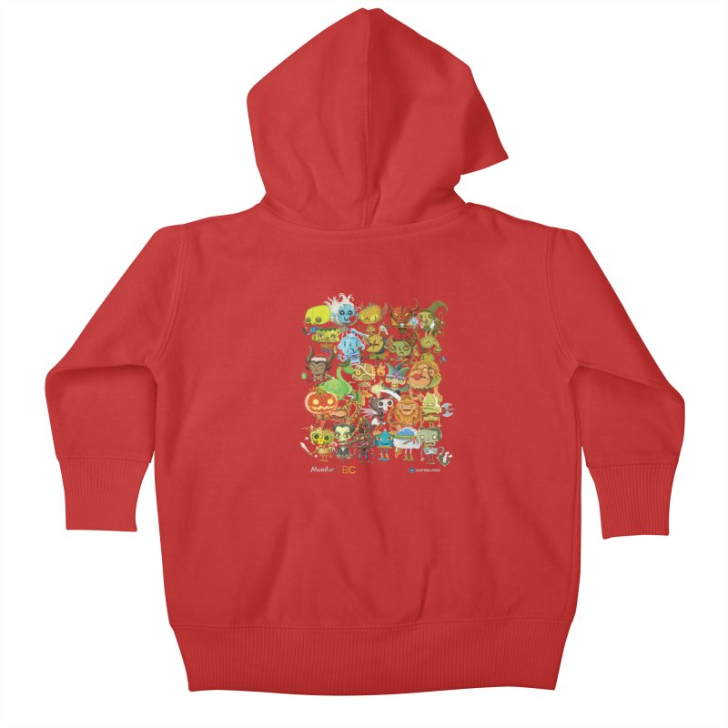 Monster ABC Kids Baby Zip-Up Hoody by Hazy Dell Press