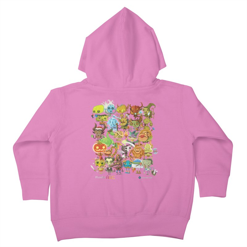 Monster ABC Kids Toddler Zip-Up Hoody by Hazy Dell Press