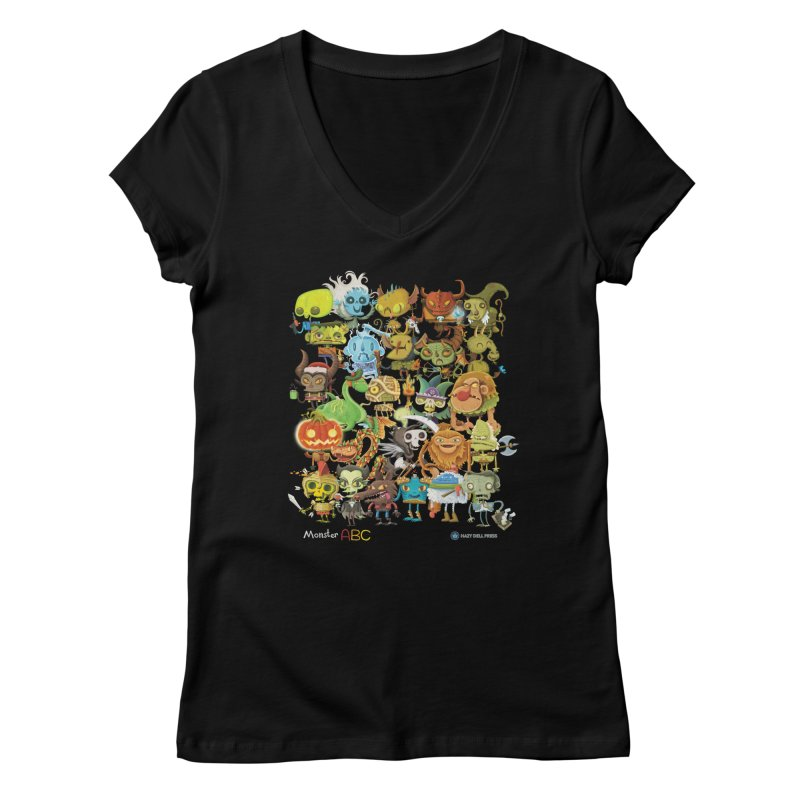 Monster ABC Women's V-Neck by Hazy Dell Press