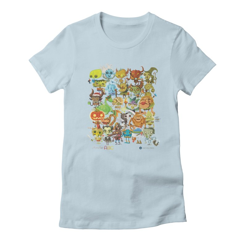Monster ABC Women's Fitted T-Shirt by Hazy Dell Press