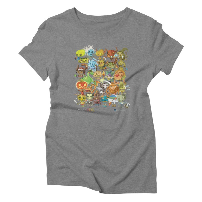 Monster ABC Women's Triblend T-Shirt by Hazy Dell Press