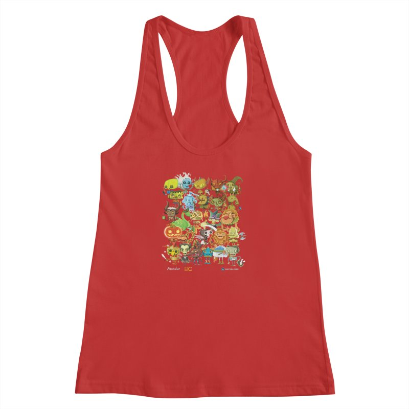 Monster ABC Women's Racerback Tank by Hazy Dell Press