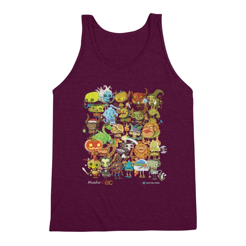 Monster ABC Men's Triblend Tank by Hazy Dell Press