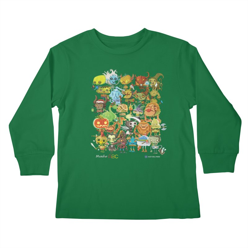 Monster ABC Kids Longsleeve T-Shirt by Hazy Dell Press