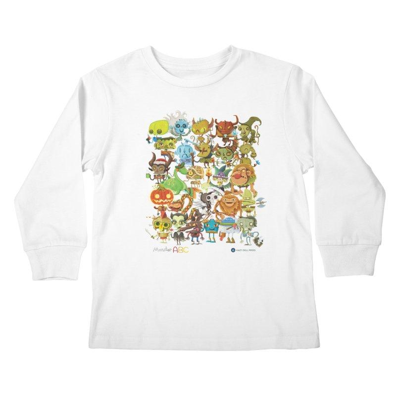 Monster ABC Kids Longsleeve T-Shirt by Hazy Dell Press