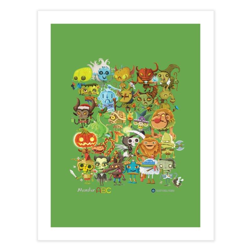 Monster ABC Home Fine Art Print by Hazy Dell Press