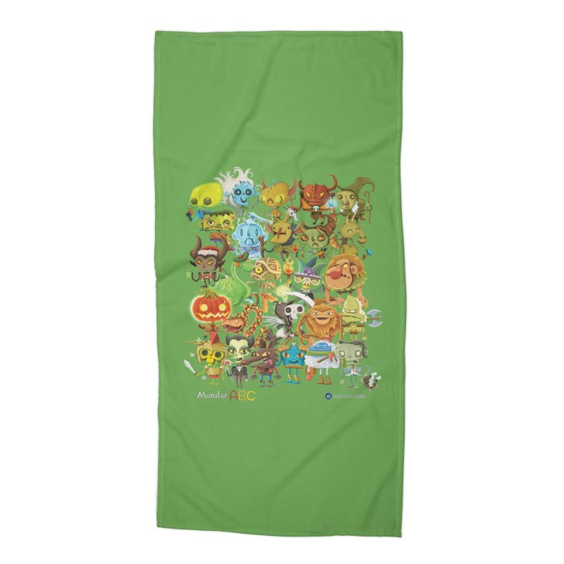 Monster ABC Accessories Beach Towel by Hazy Dell Press