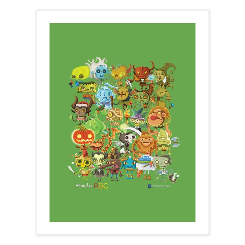 Monster ABC Home Fine Art Print by Hazy Dell Press