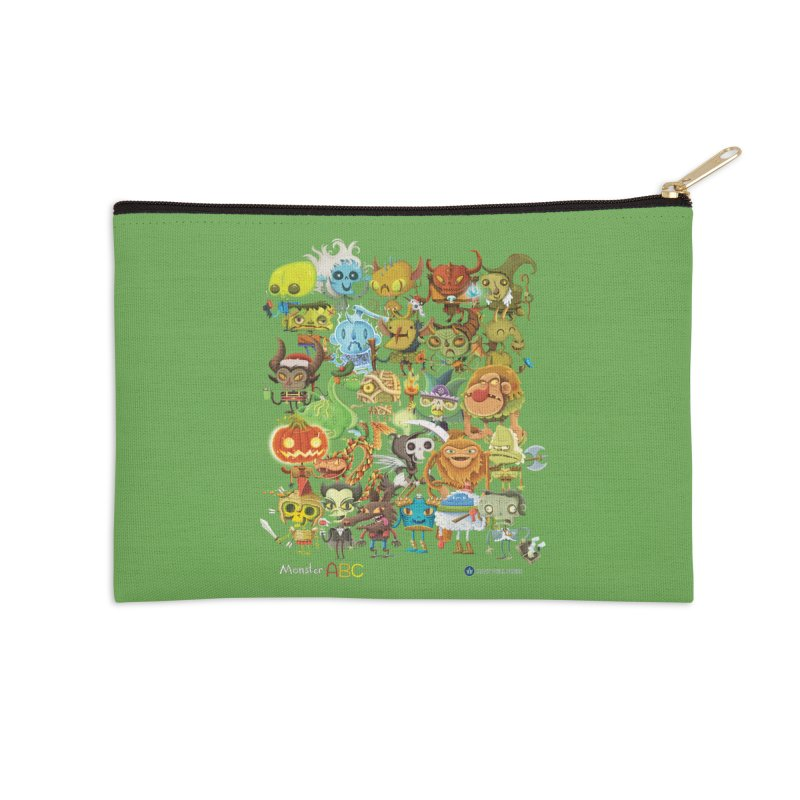 Monster ABC Accessories Zip Pouch by Hazy Dell Press