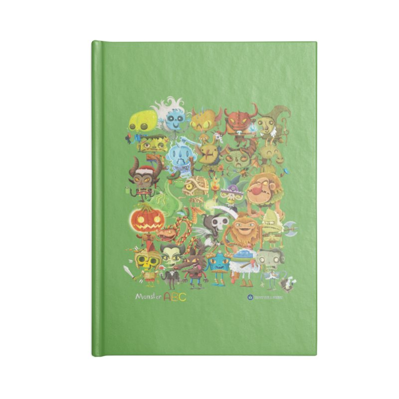 Monster ABC Accessories Blank Journal Notebook by Hazy Dell Press