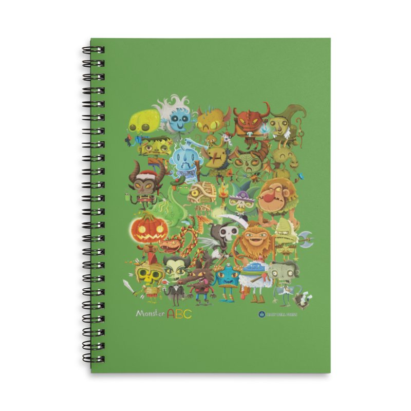Monster ABC Accessories Lined Spiral Notebook by Hazy Dell Press
