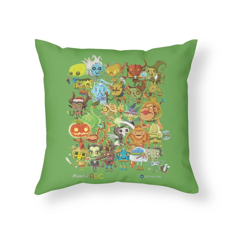 Monster ABC Home Throw Pillow by Hazy Dell Press
