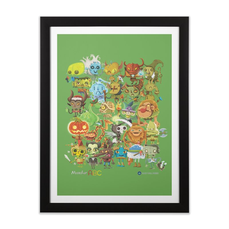 Monster ABC Home Framed Fine Art Print by Hazy Dell Press