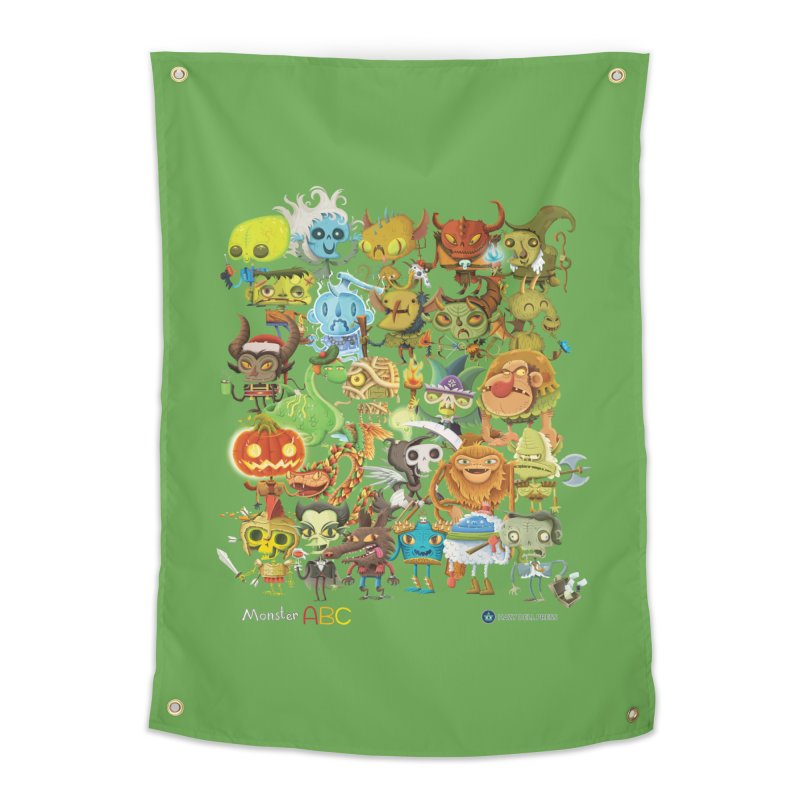 Monster ABC Home Tapestry by Hazy Dell Press