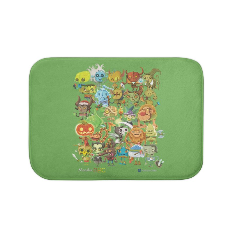 Monster ABC Home Bath Mat by Hazy Dell Press