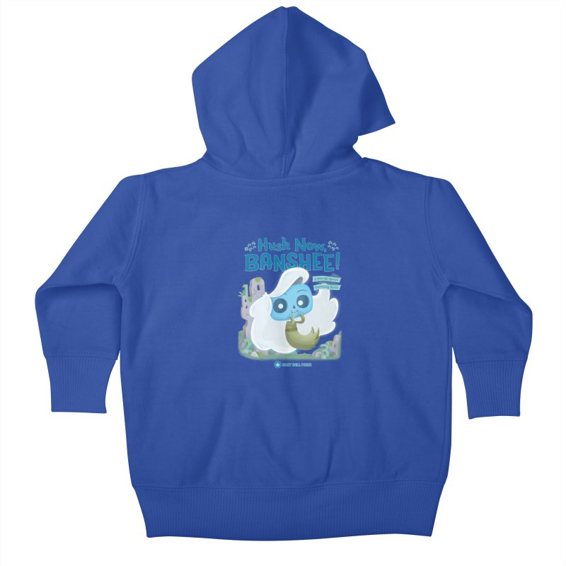Hush Now, Banshee! Kids Baby Zip-Up Hoody by Hazy Dell Press