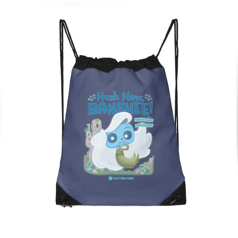 Hush Now, Banshee! Accessories Drawstring Bag Bag by Hazy Dell Press