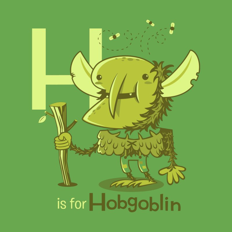 H is for Hobgoblin — No Fart Kids Baby Zip-Up Hoody by Hazy Dell Press