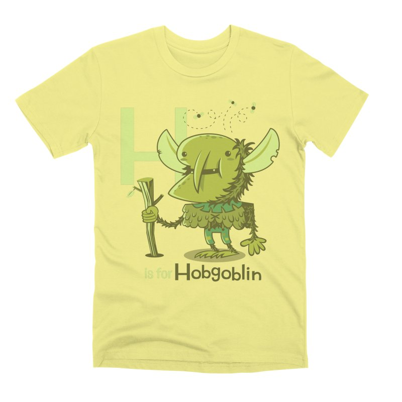 H is for Hobgoblin — No Fart Men's Premium T-Shirt by Hazy Dell Press