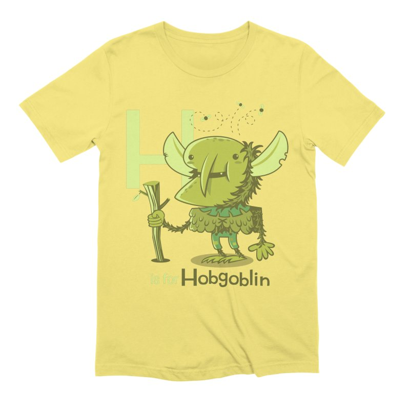 H is for Hobgoblin — No Fart Men's Extra Soft T-Shirt by Hazy Dell Press