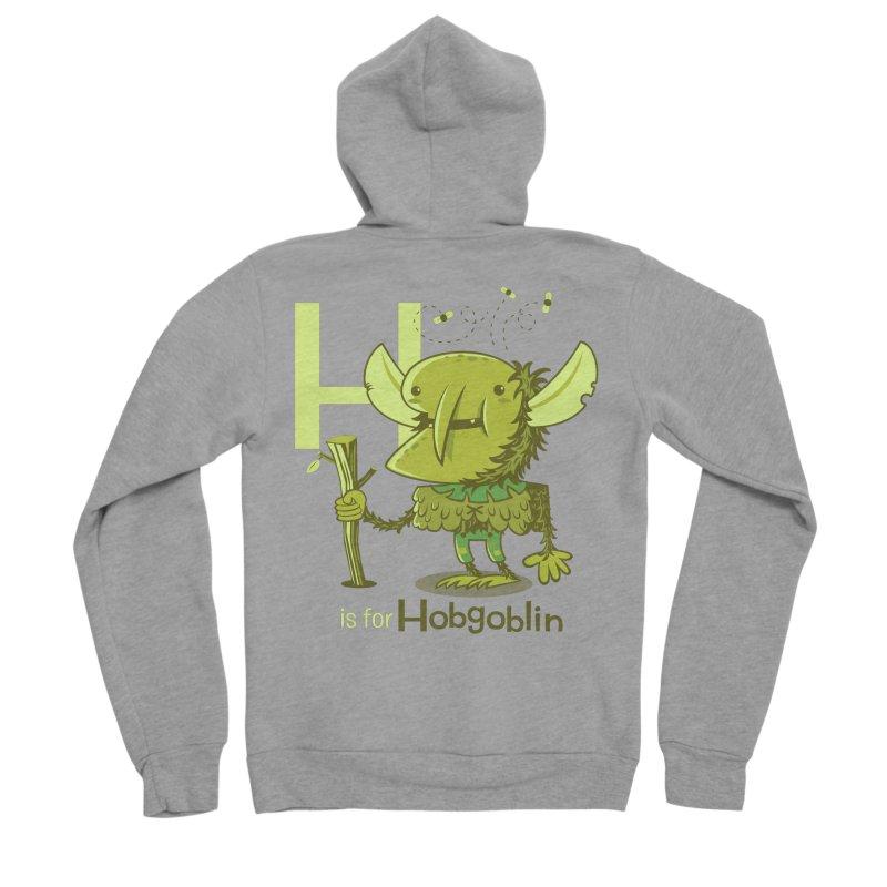 H is for Hobgoblin — No Fart Women's Sponge Fleece Zip-Up Hoody by Hazy Dell Press