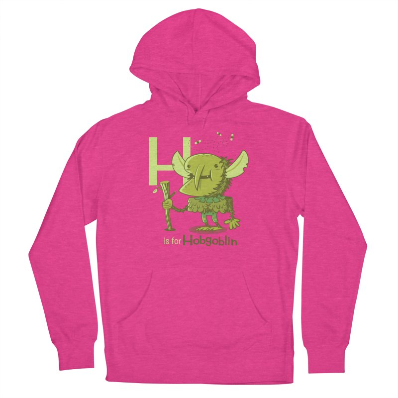 H is for Hobgoblin — No Fart Men's French Terry Pullover Hoody by Hazy Dell Press
