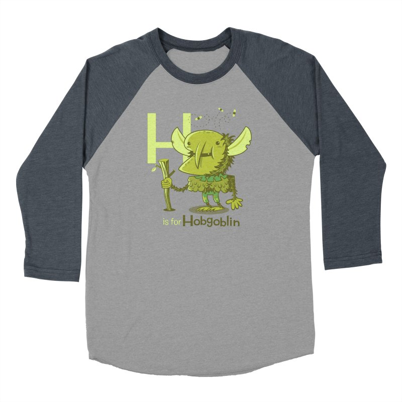 H is for Hobgoblin — No Fart Men's Baseball Triblend Longsleeve T-Shirt by Hazy Dell Press