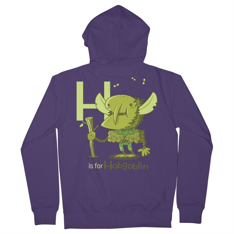 H is for Hobgoblin — No Fart Women's French Terry Zip-Up Hoody by Hazy Dell Press