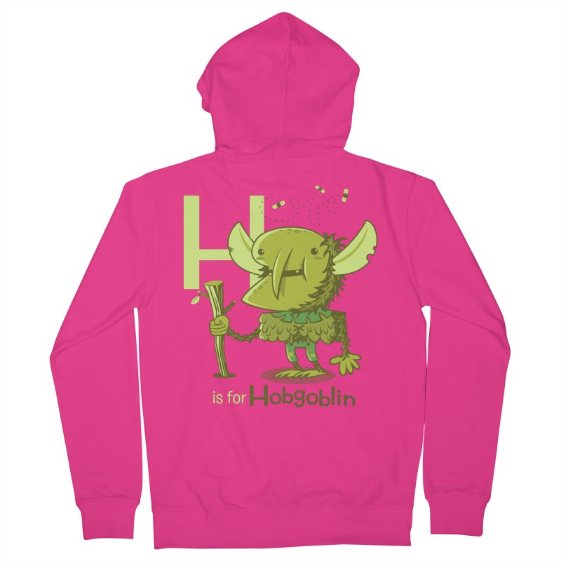 H is for Hobgoblin — No Fart Men's French Terry Zip-Up Hoody by Hazy Dell Press