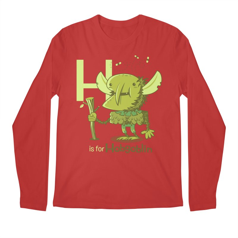 H is for Hobgoblin — No Fart Men's Regular Longsleeve T-Shirt by Hazy Dell Press