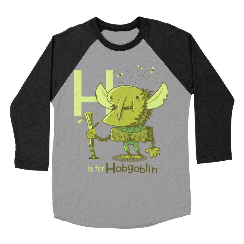 H is for Hobgoblin — No Fart Women's Baseball Triblend Longsleeve T-Shirt by Hazy Dell Press