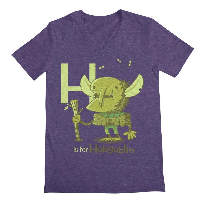 H is for Hobgoblin — No Fart Men's Regular V-Neck by Hazy Dell Press