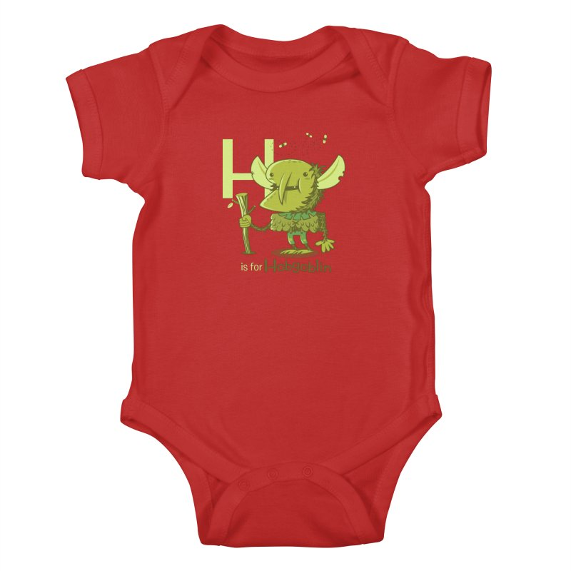 H is for Hobgoblin — No Fart Kids Baby Bodysuit by Hazy Dell Press