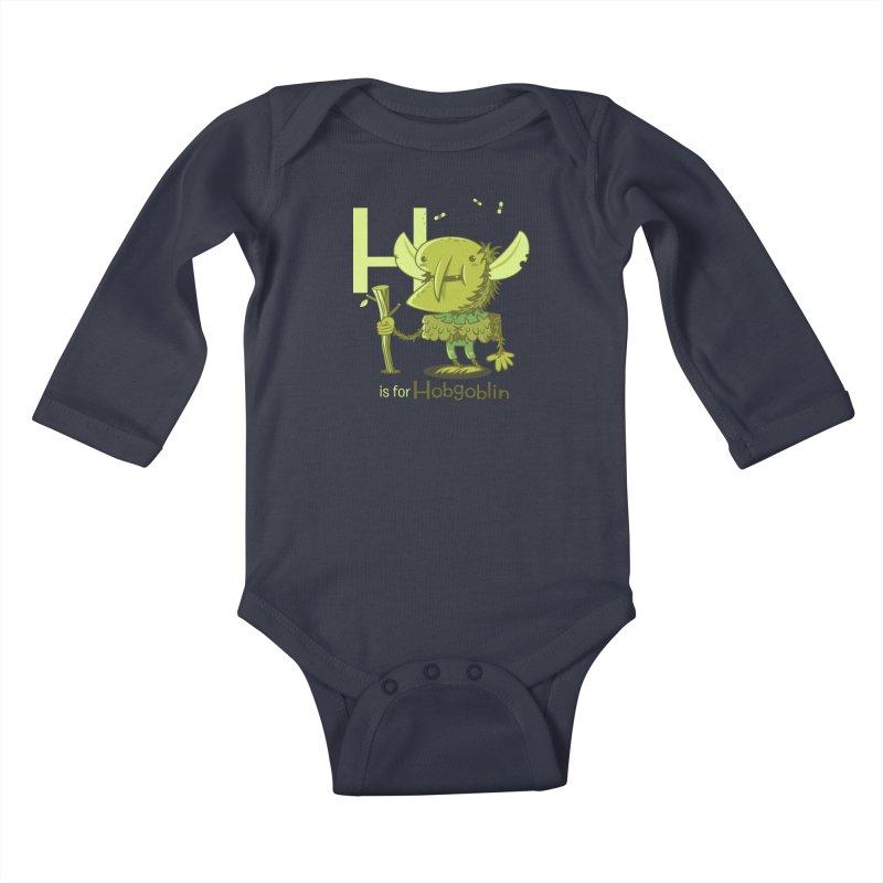 H is for Hobgoblin — No Fart Kids Baby Longsleeve Bodysuit by Hazy Dell Press