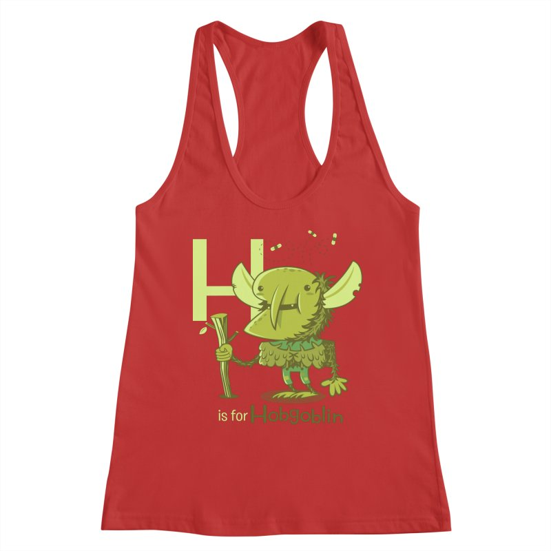 H is for Hobgoblin — No Fart Women's Racerback Tank by Hazy Dell Press