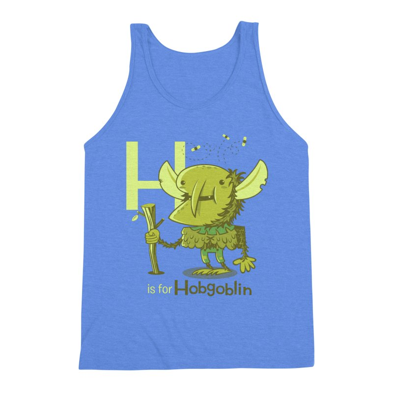 H is for Hobgoblin — No Fart Men's Triblend Tank by Hazy Dell Press
