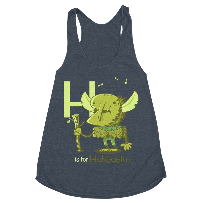 H is for Hobgoblin — No Fart Women's Racerback Triblend Tank by Hazy Dell Press