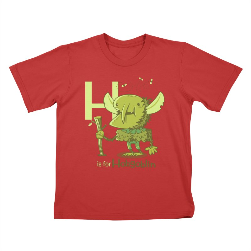 H is for Hobgoblin — No Fart Kids T-Shirt by Hazy Dell Press