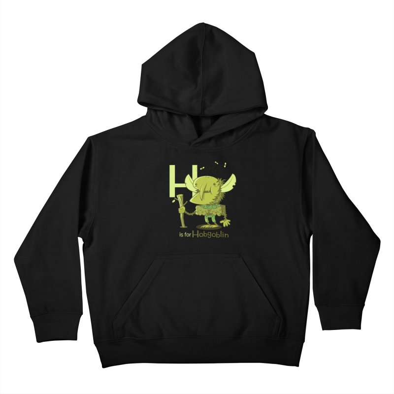 H is for Hobgoblin — No Fart Kids Pullover Hoody by Hazy Dell Press