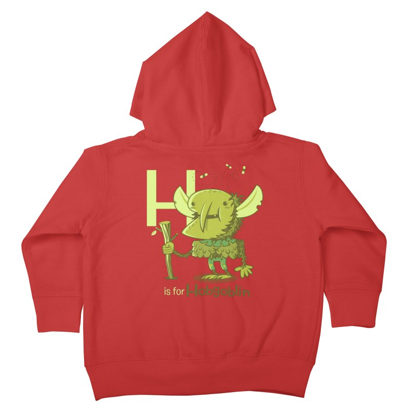 H is for Hobgoblin — No Fart Kids Toddler Zip-Up Hoody by Hazy Dell Press