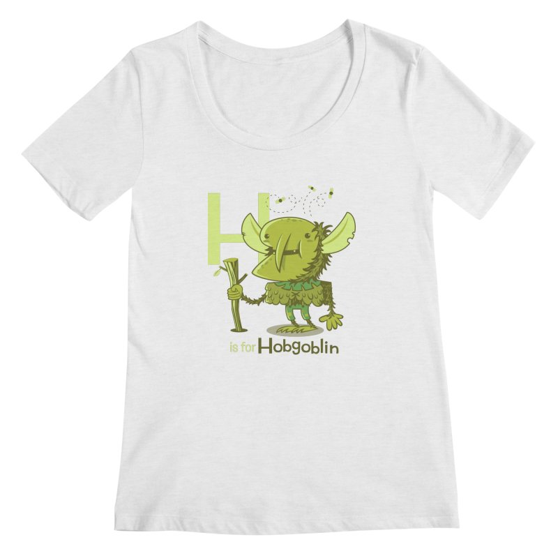 H is for Hobgoblin — No Fart Women's Regular Scoop Neck by Hazy Dell Press