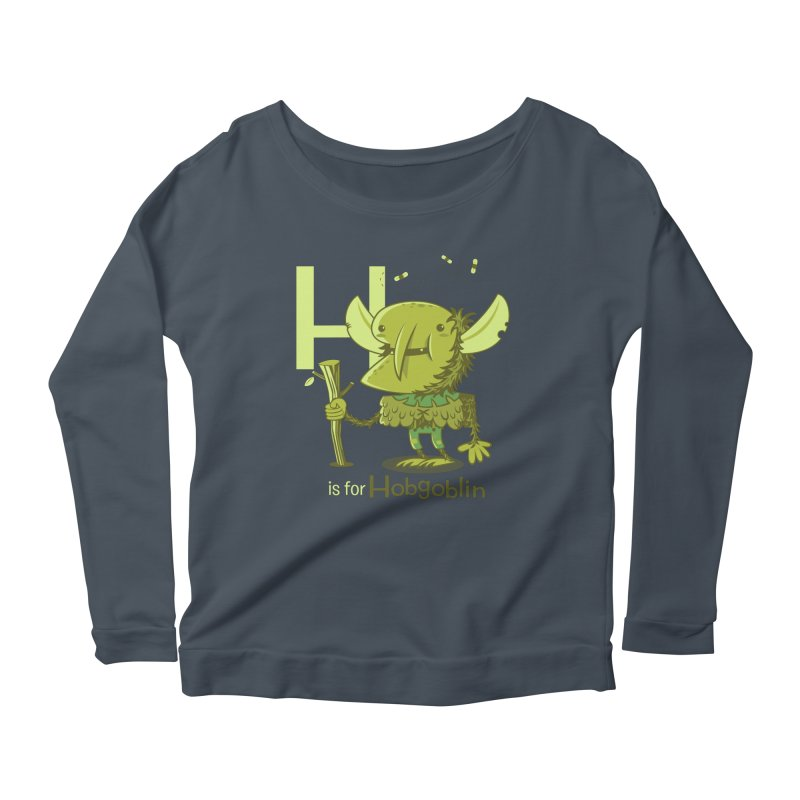 H is for Hobgoblin — No Fart Women's Scoop Neck Longsleeve T-Shirt by Hazy Dell Press