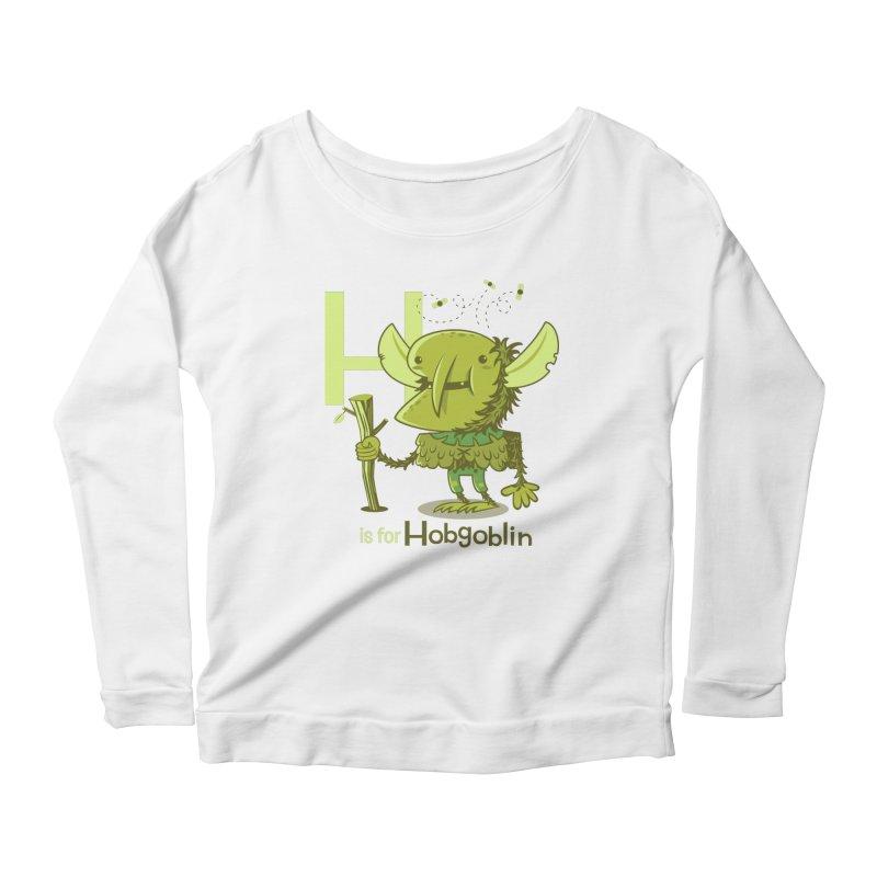 H is for Hobgoblin — No Fart Women's Scoop Neck Longsleeve T-Shirt by Hazy Dell Press