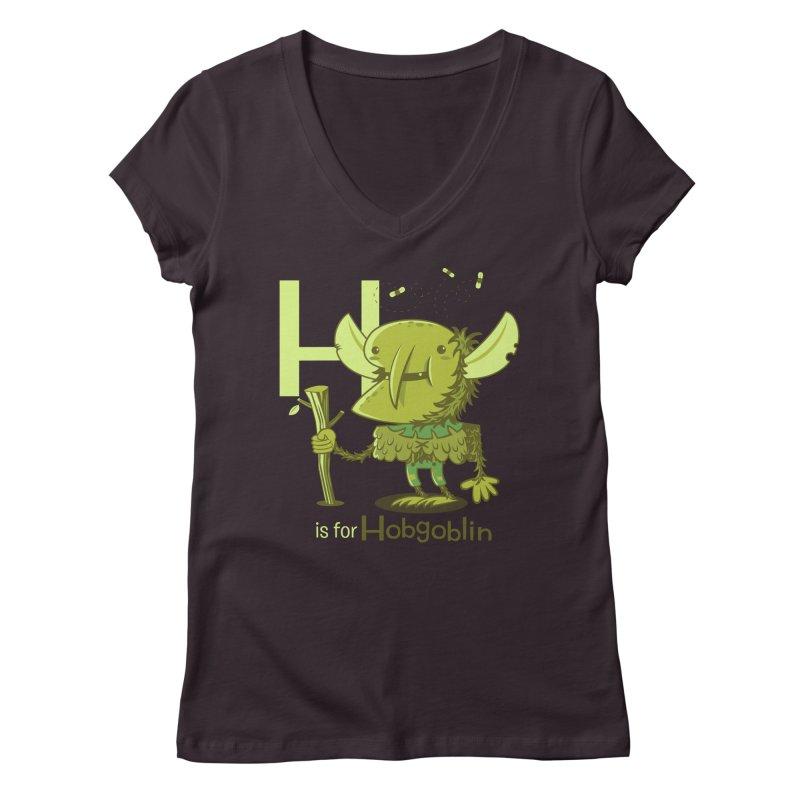 H is for Hobgoblin — No Fart Women's Regular V-Neck by Hazy Dell Press