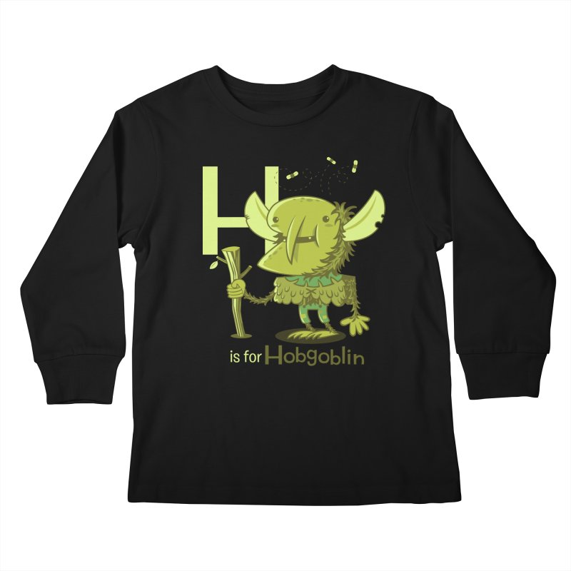 H is for Hobgoblin — No Fart Kids Longsleeve T-Shirt by Hazy Dell Press