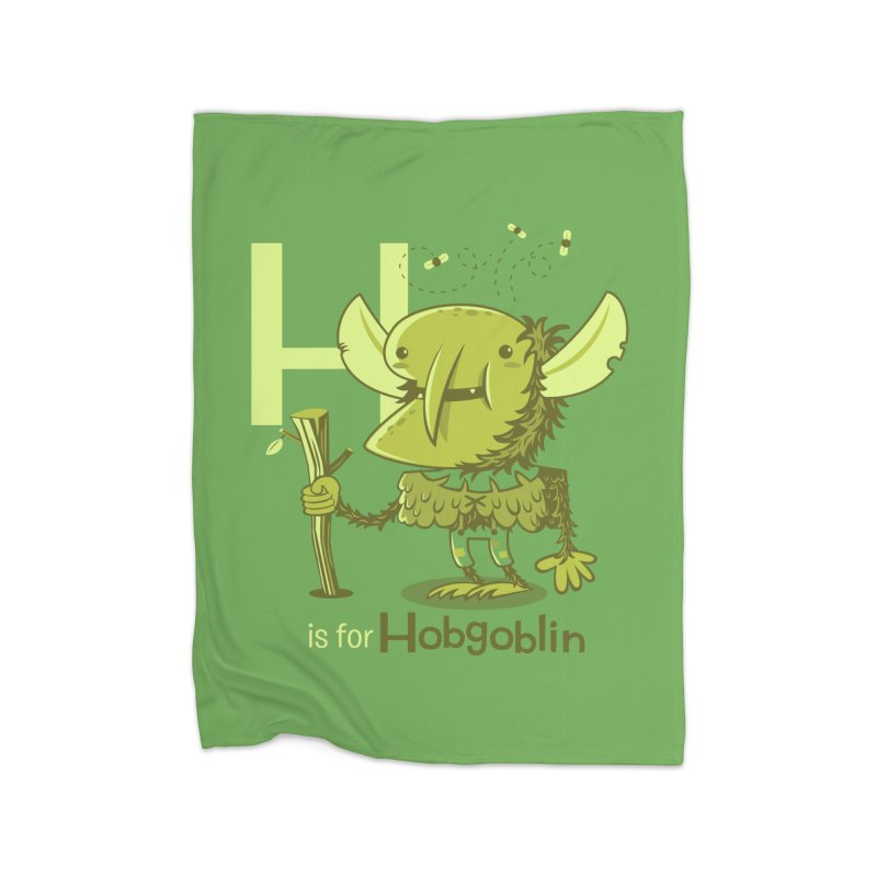H is for Hobgoblin — No Fart Home Fleece Blanket Blanket by Hazy Dell Press