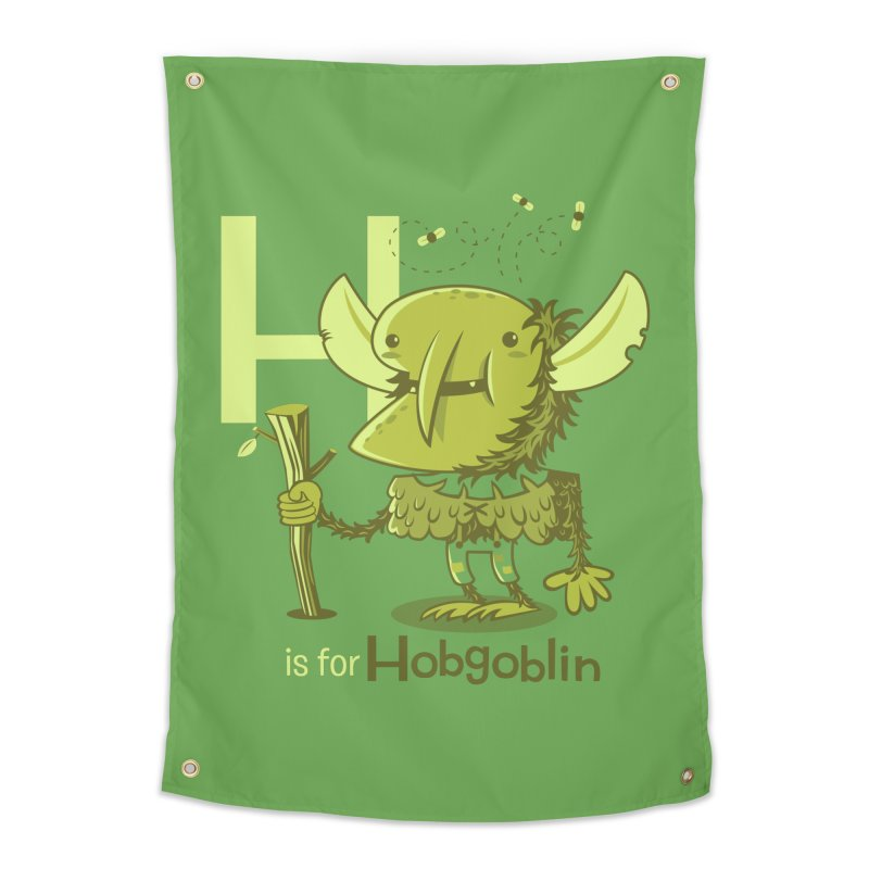 H is for Hobgoblin — No Fart Home Tapestry by Hazy Dell Press
