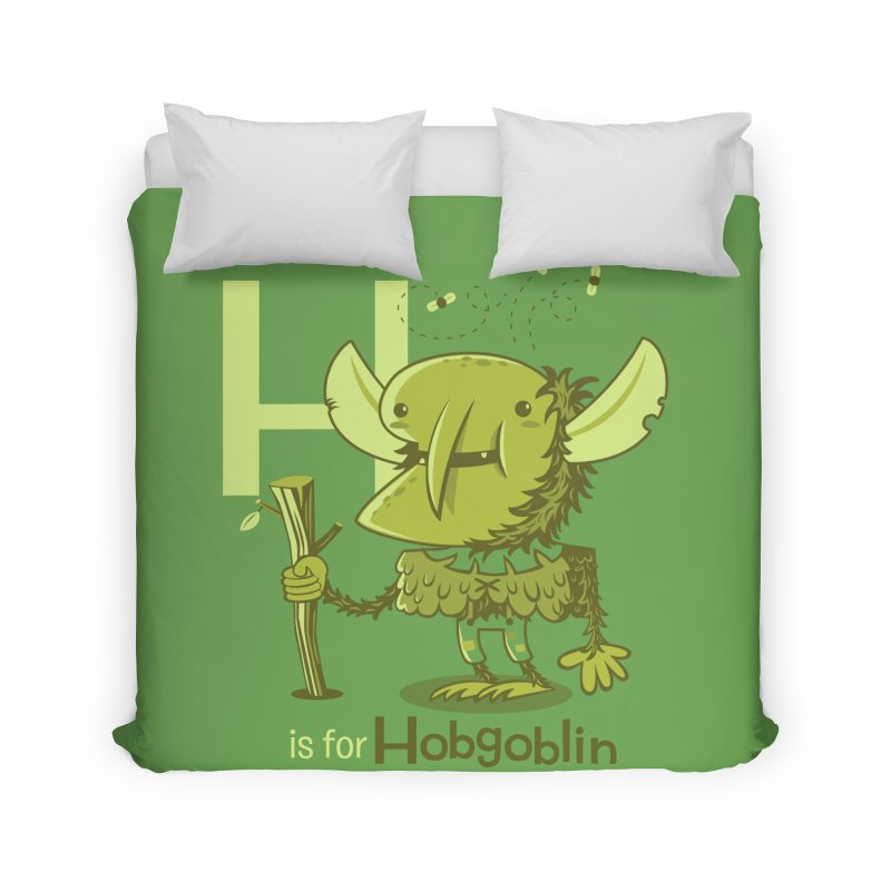 H is for Hobgoblin — No Fart Home Duvet by Hazy Dell Press